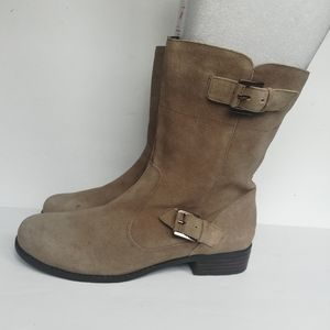 Bandolino Tilling Zip Up Leather Boots w/ Buckles